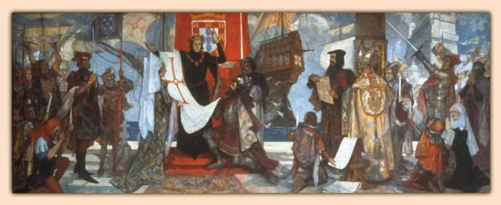 Vasco da Gama przed wypłynięciem do Indii