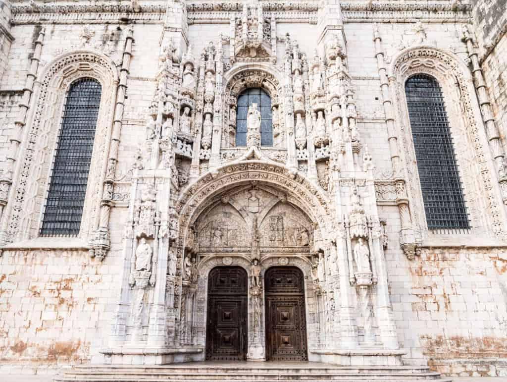 Drzwi kościoła świętej Marii przy klasztorze Hieronimitów