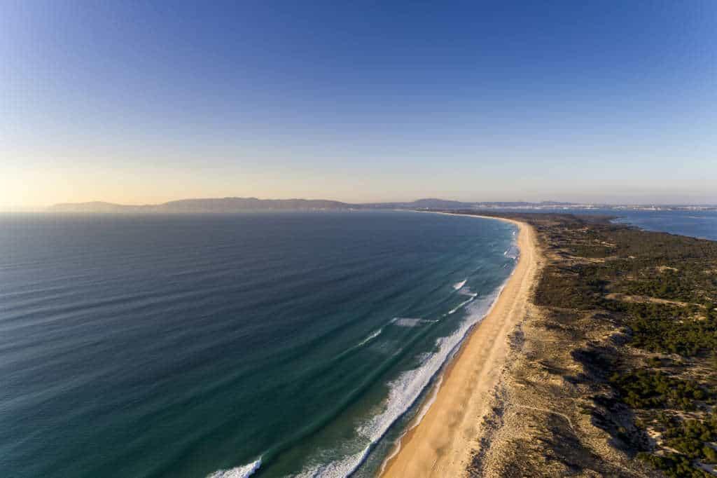 linia brzegowa Troia Portugalia