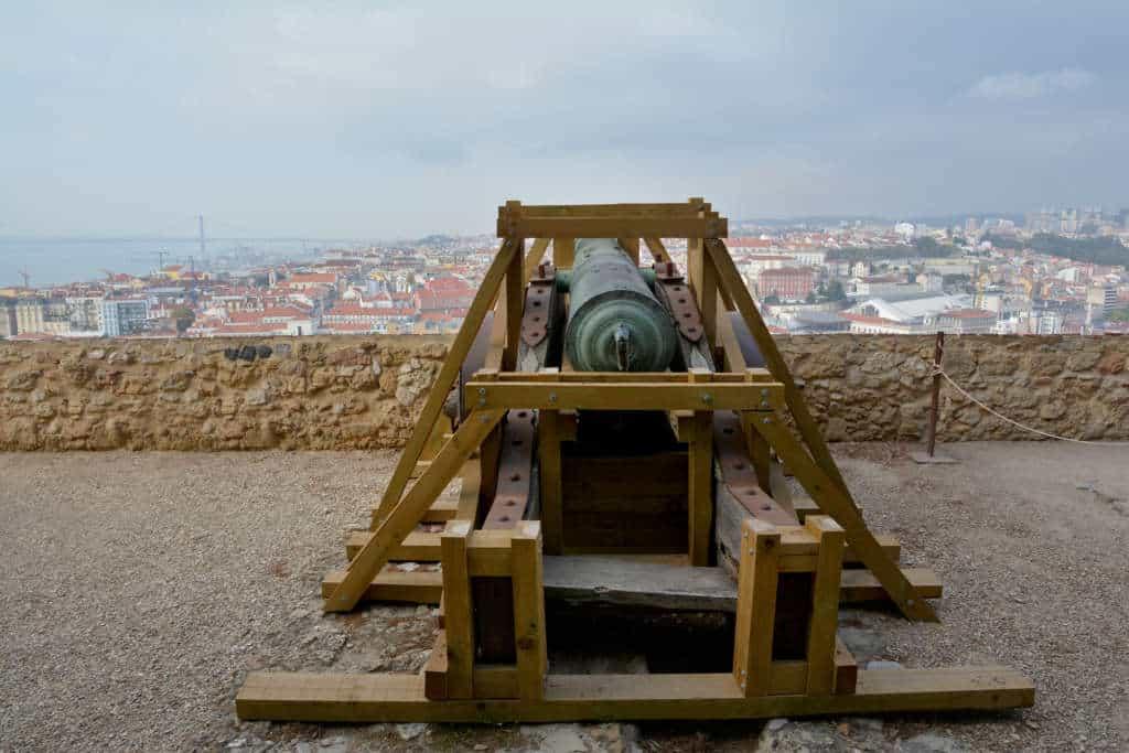 armata na zamku świętego Jerzego
