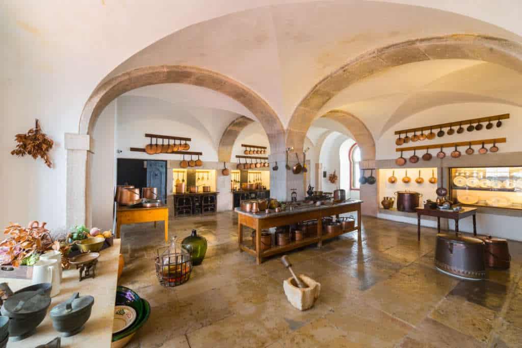 kuchnia w pałacu Pena
