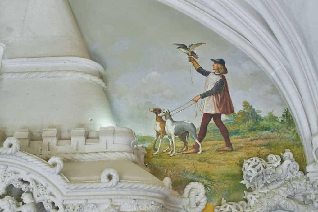 wnętrze pałacu Quinta da Regaleira