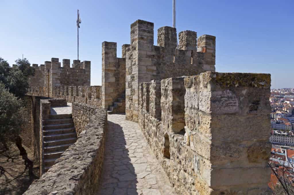 mury zamku św. Jerzego