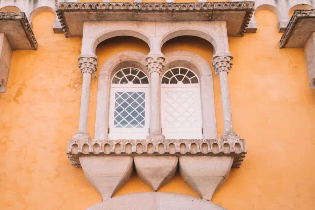 okno w pałacu Pena