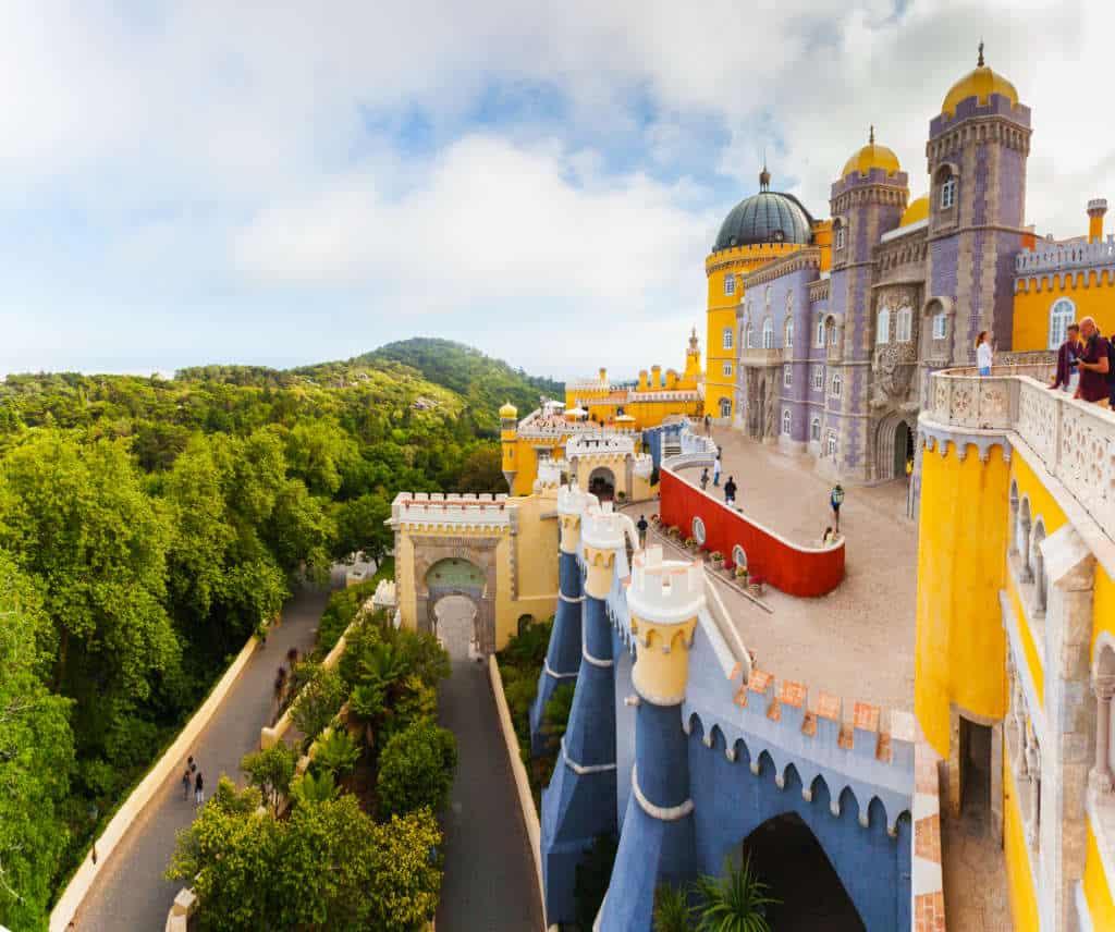 pałac Pena w Sintrze, widok na taras