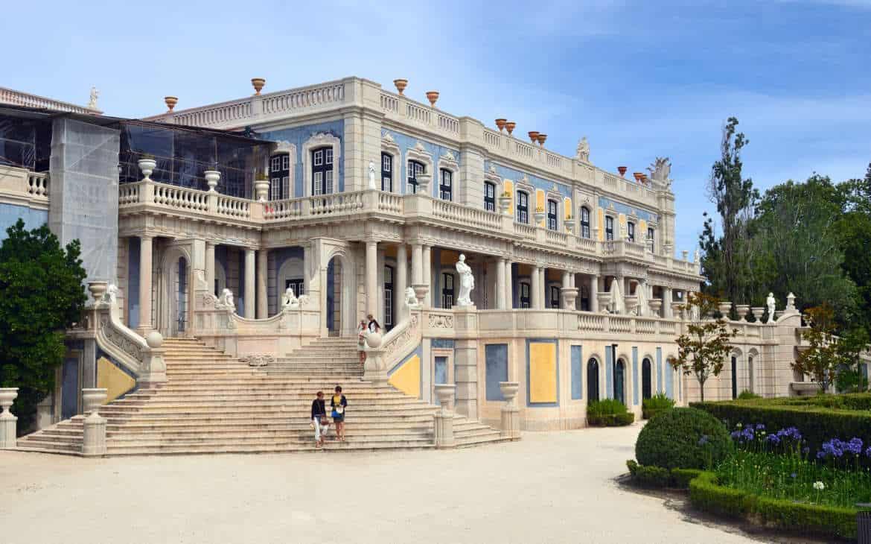 pałac w Queluz z tyłu