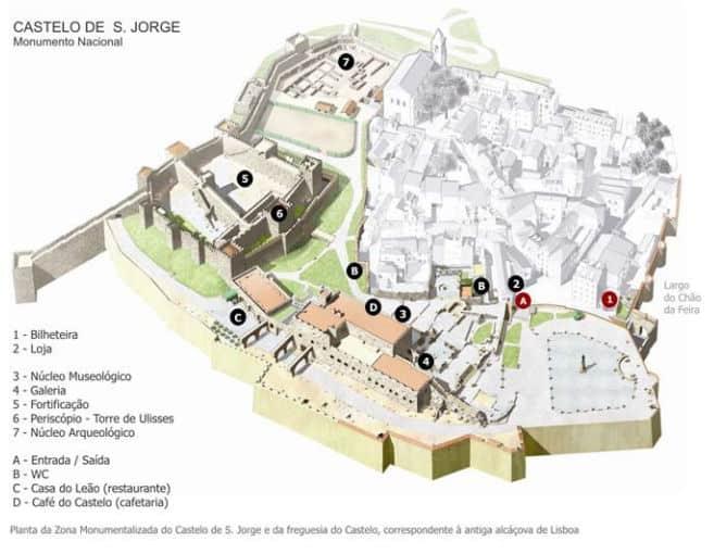 Plan zamku świętego Jerzego