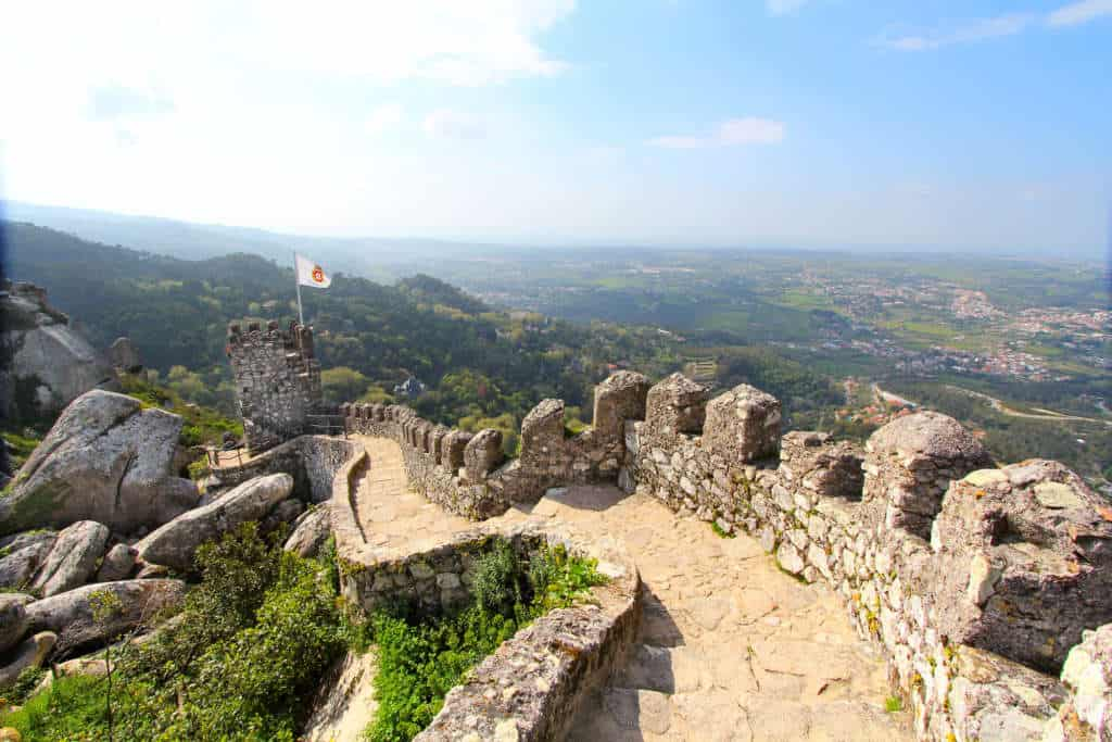 widok na Sintrę z zamku Maurów