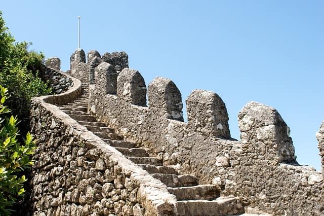 schody na zamku