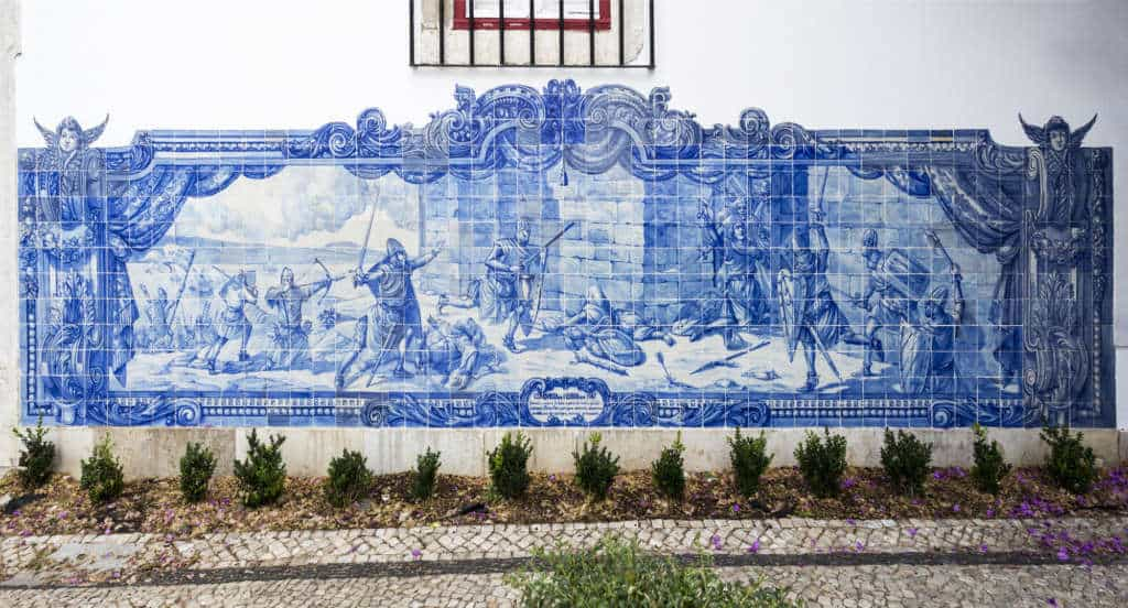 azulejos opisujące zdobycie Zamku