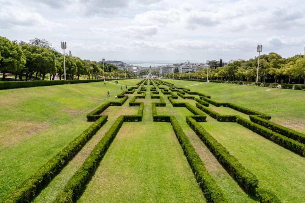 Park Edwarda VII widok w stronę placu Markiza de Pombal