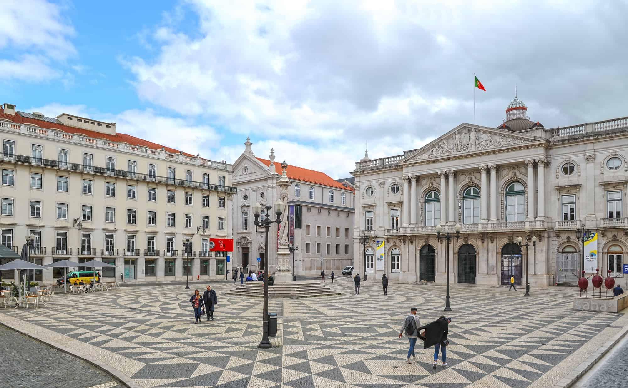 Praça do Município - plac miejski i ratusz w Lizbonie