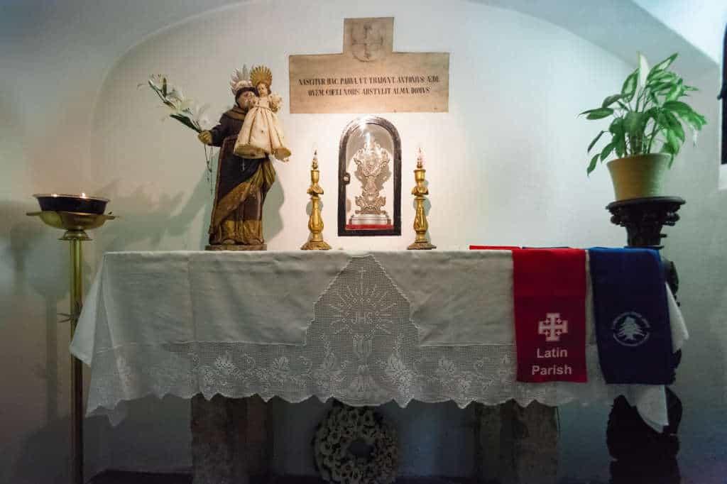 kapliczka w kościele św Antoniego Padewskiego