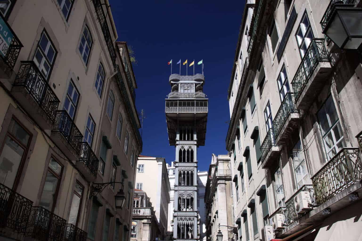 Winda Santa Justa w Lizbonie