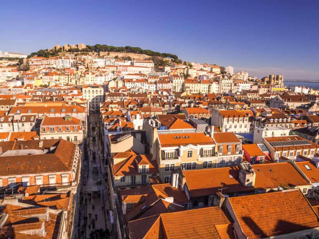 widok na Lizbonę