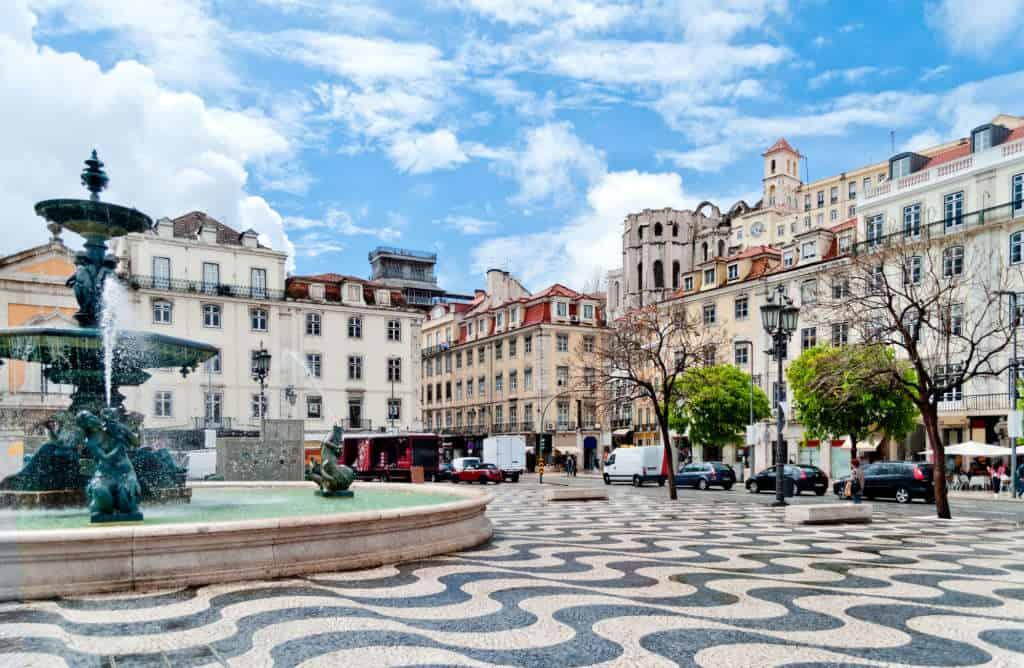 fontanny na placu Rossio
