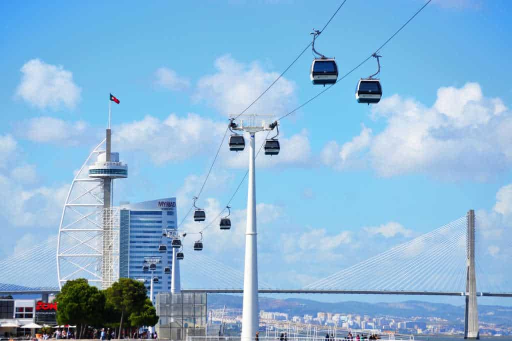 kolejka linowa w Lizbonie