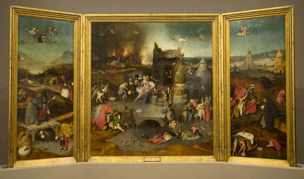 obraz kuszenie św. Antoniego