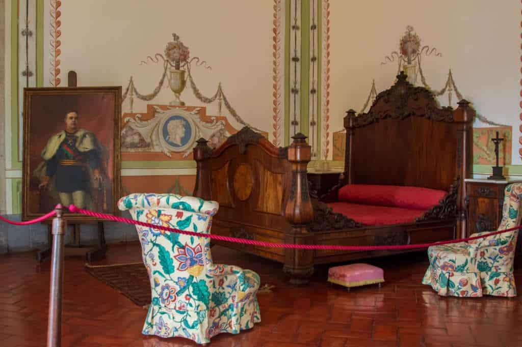 królewskie łoże w Mafrze