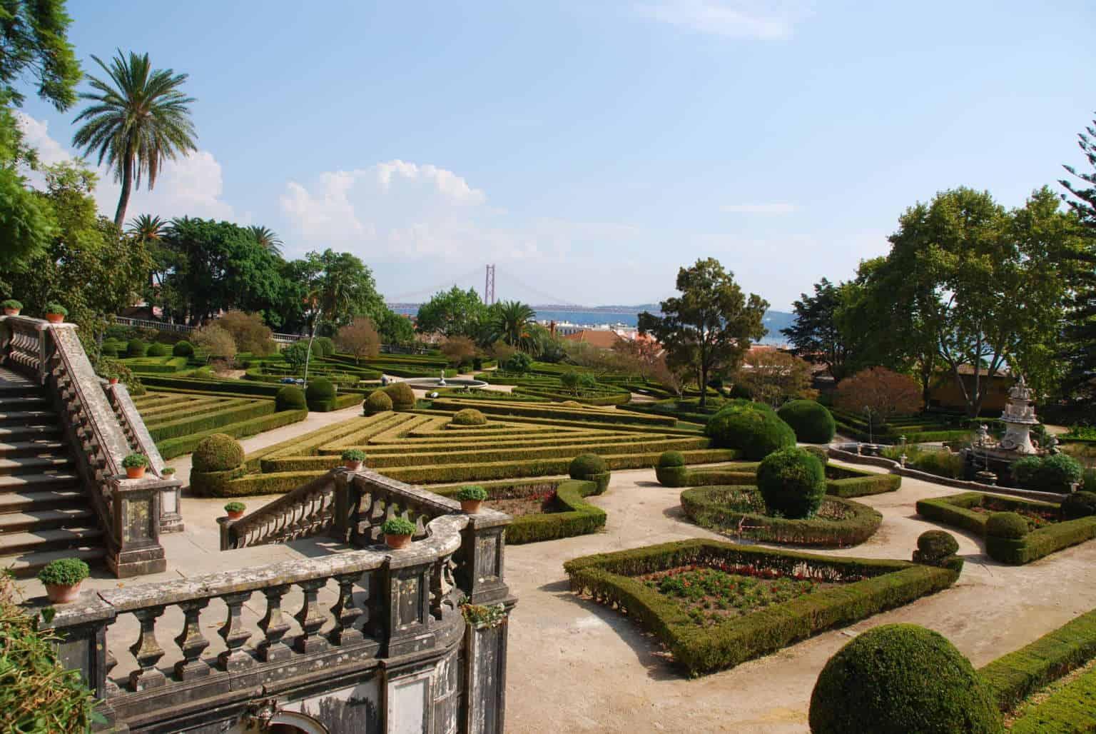 ogród Ajuda w Lizbonie