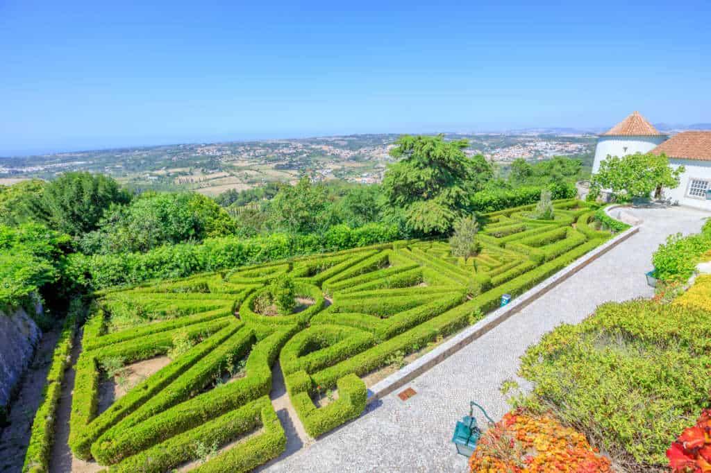 ogród pałacu Seteais