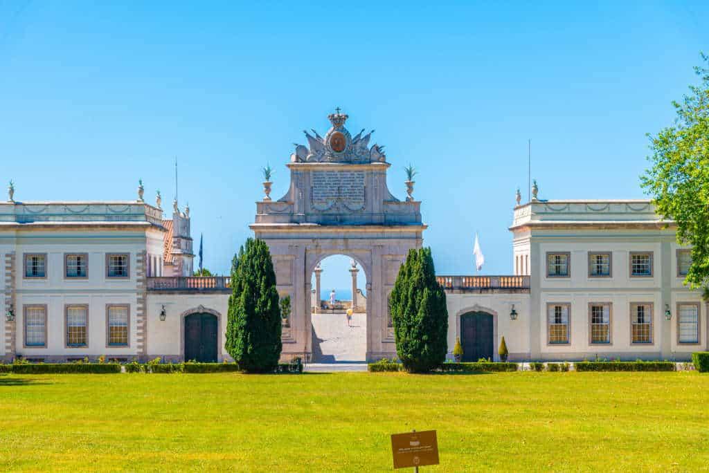 pałac Seteais z oddali