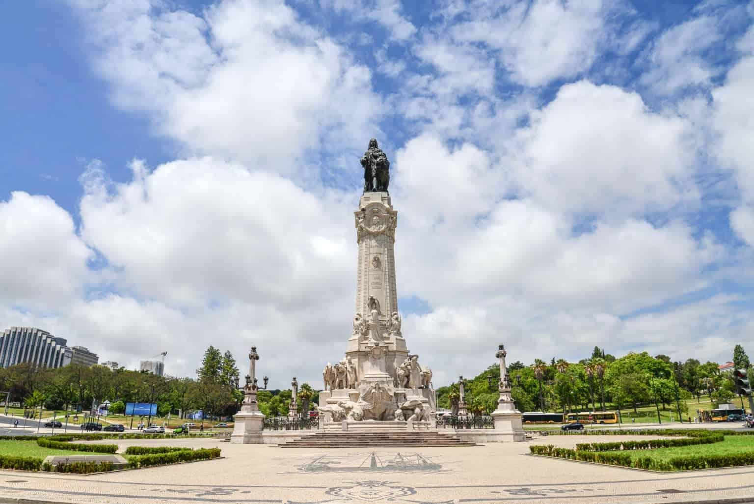 Plac Markiza de Pombal w Lizbonie