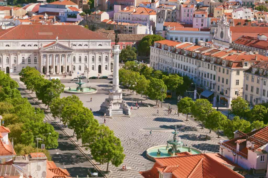widok na plac Rossio