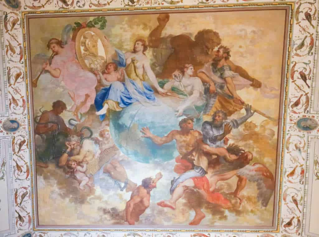 fresk w sali odkryć w Mafrze