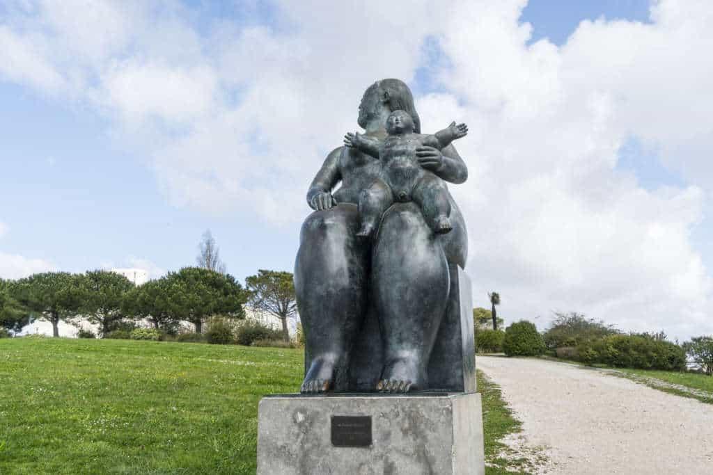 rzeźba w parku Edwarda VII