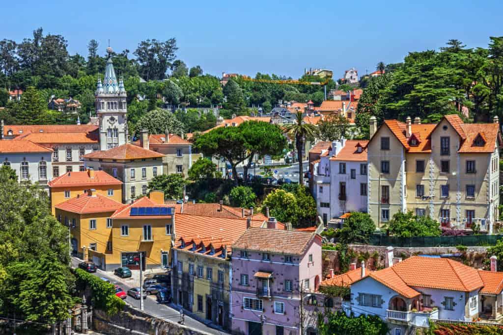 Widok na Sintrę w Portugalii