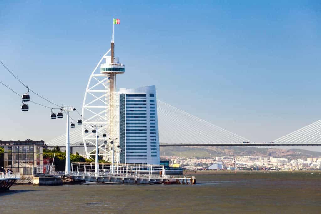 wieża Vasco da Gama i most