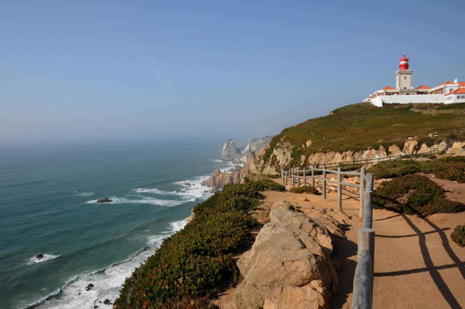 Cabo da Roca - przylądek i plaża na końcu Europy