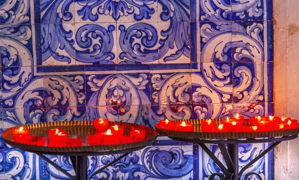 kafelki w kościele Obidos