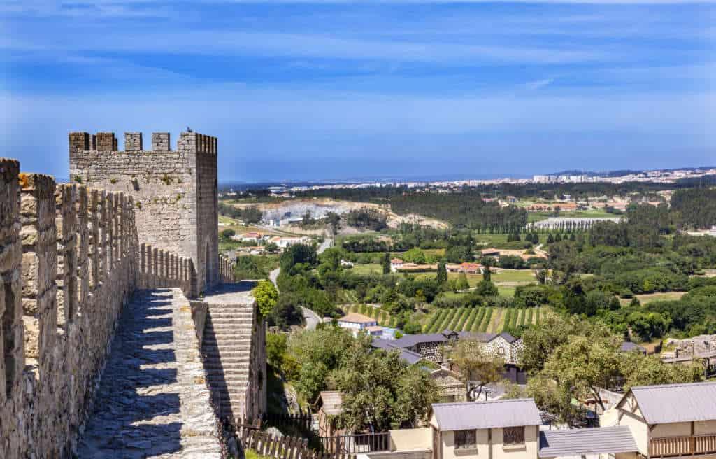 obidos zamek mury