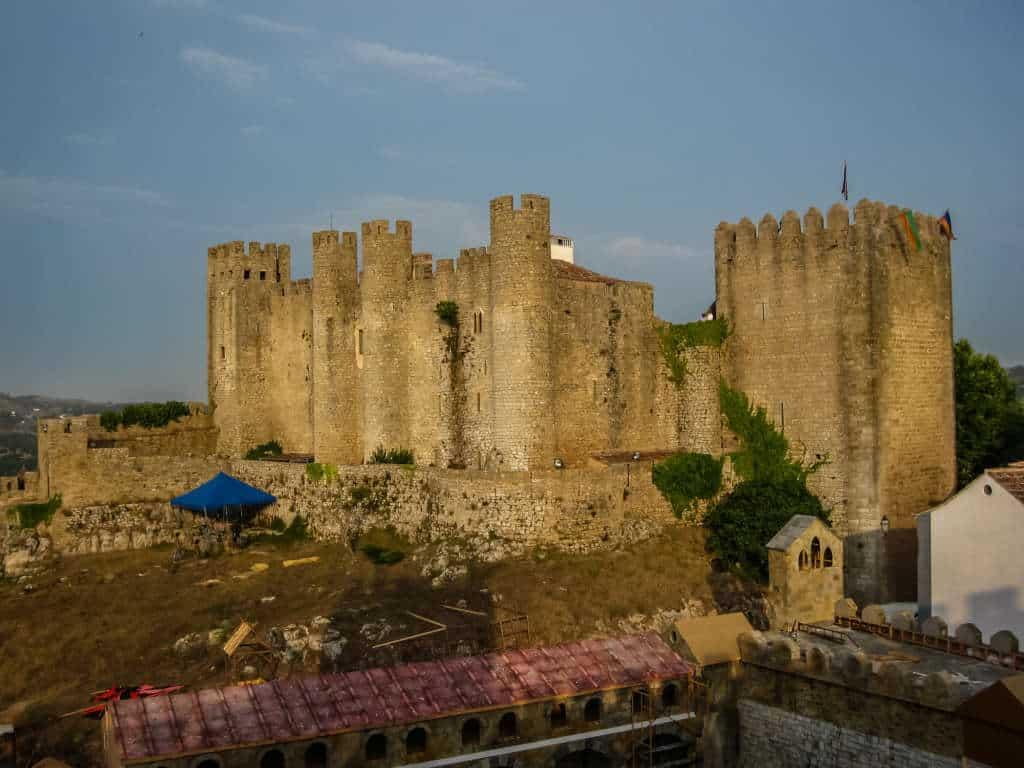 widok na zamek Obidos