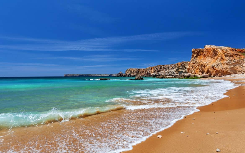 plaża w Sagres