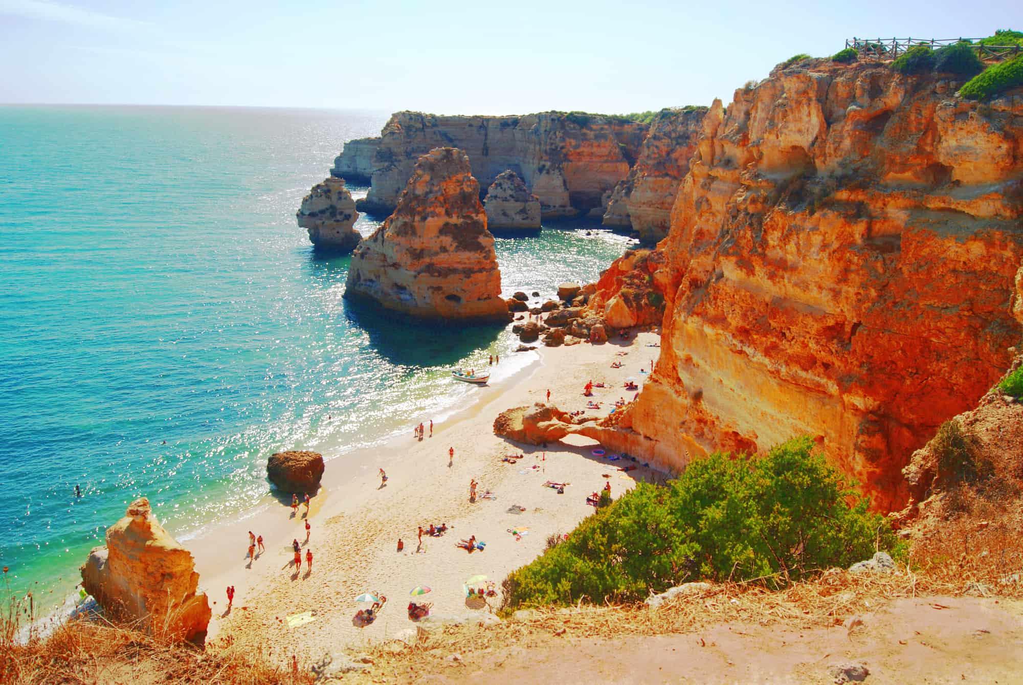 praia da marinha w Algarve