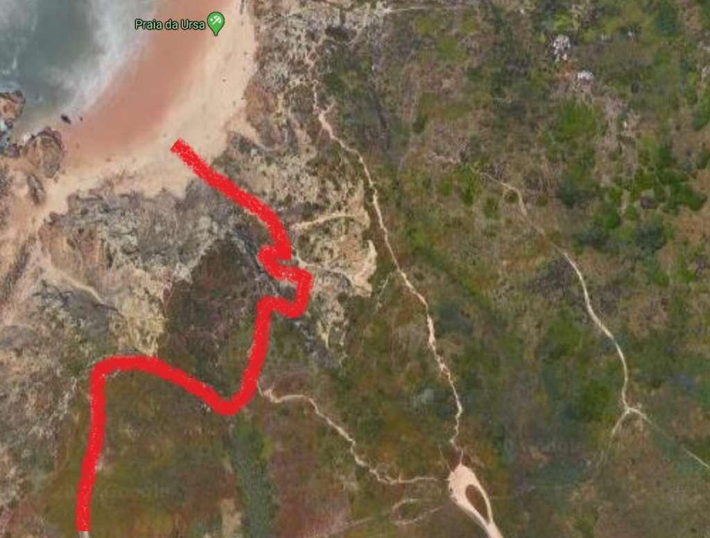 droga na Praia da Ursa przy Cabo da Roca