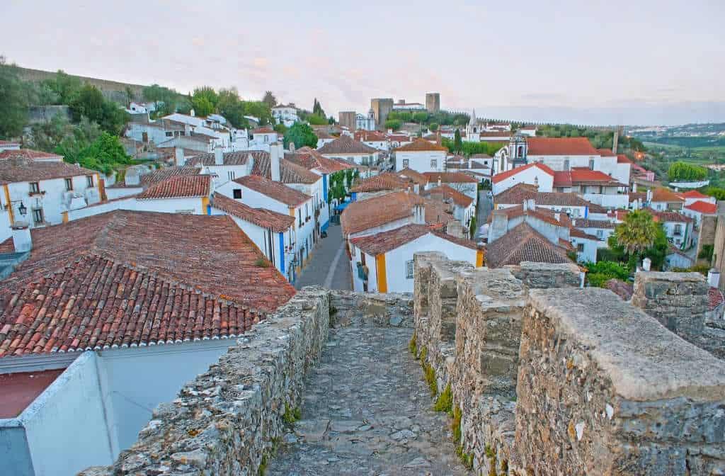 widok na miasto Obidos