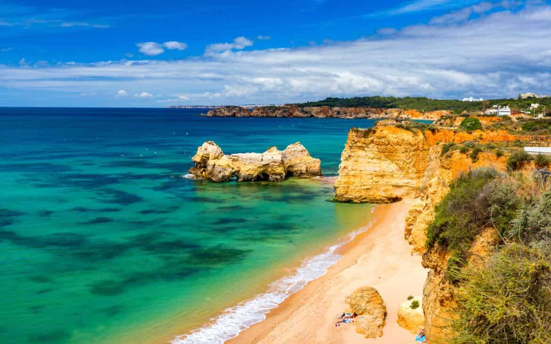 plaża trzy zamki Portimao
