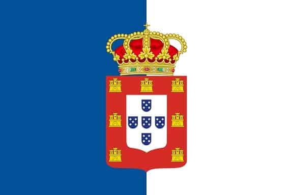flaga portugalii niebieska