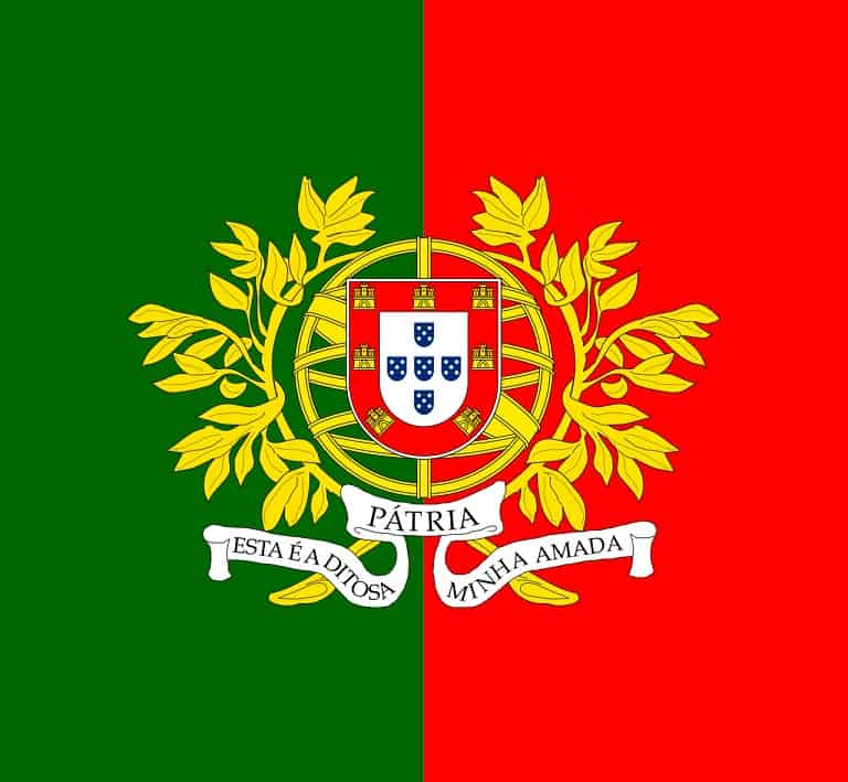 flaga wojskowa portugalia
