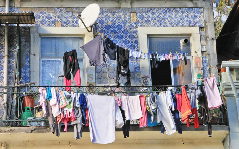 wieszone pranie Lizbona