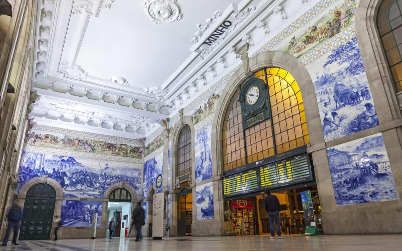 płytki Azulejos na Sao Bento