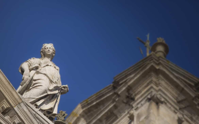 figura na kościele św. Franciszka
