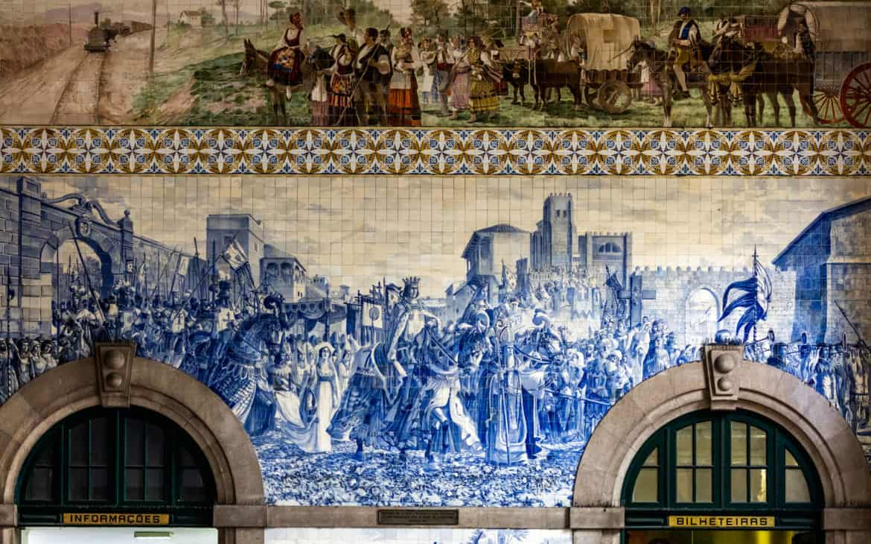 zdobycie miasta na kafelkach azulejos