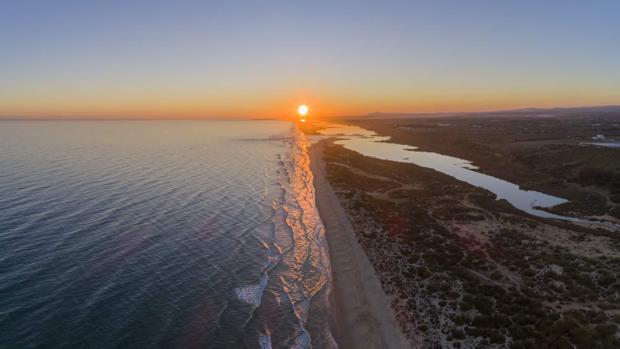 Monte Gordo widok na plażę