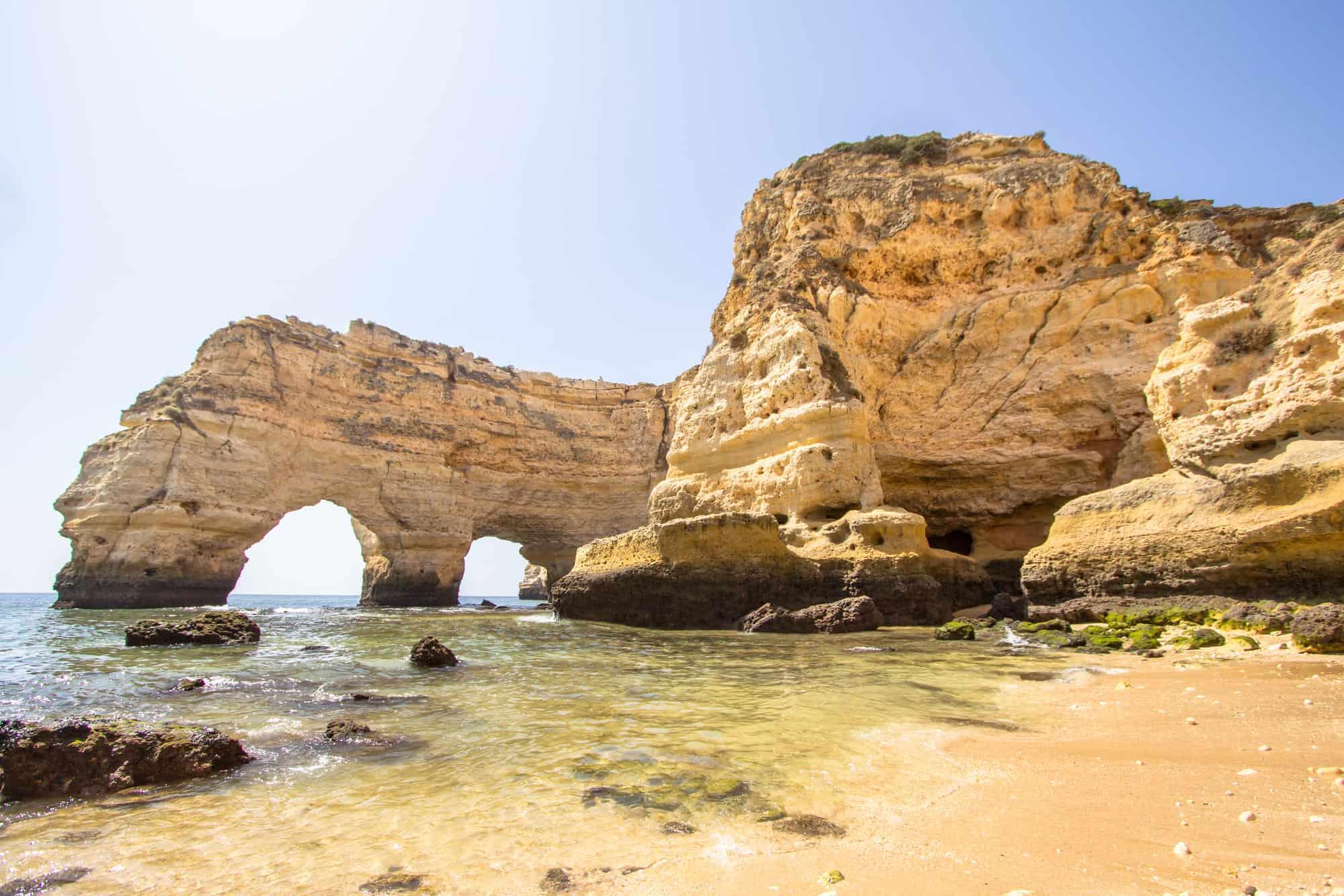 widok na klify Algarve
