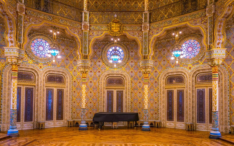 pokój arabski w pałacu giełdy w Porto